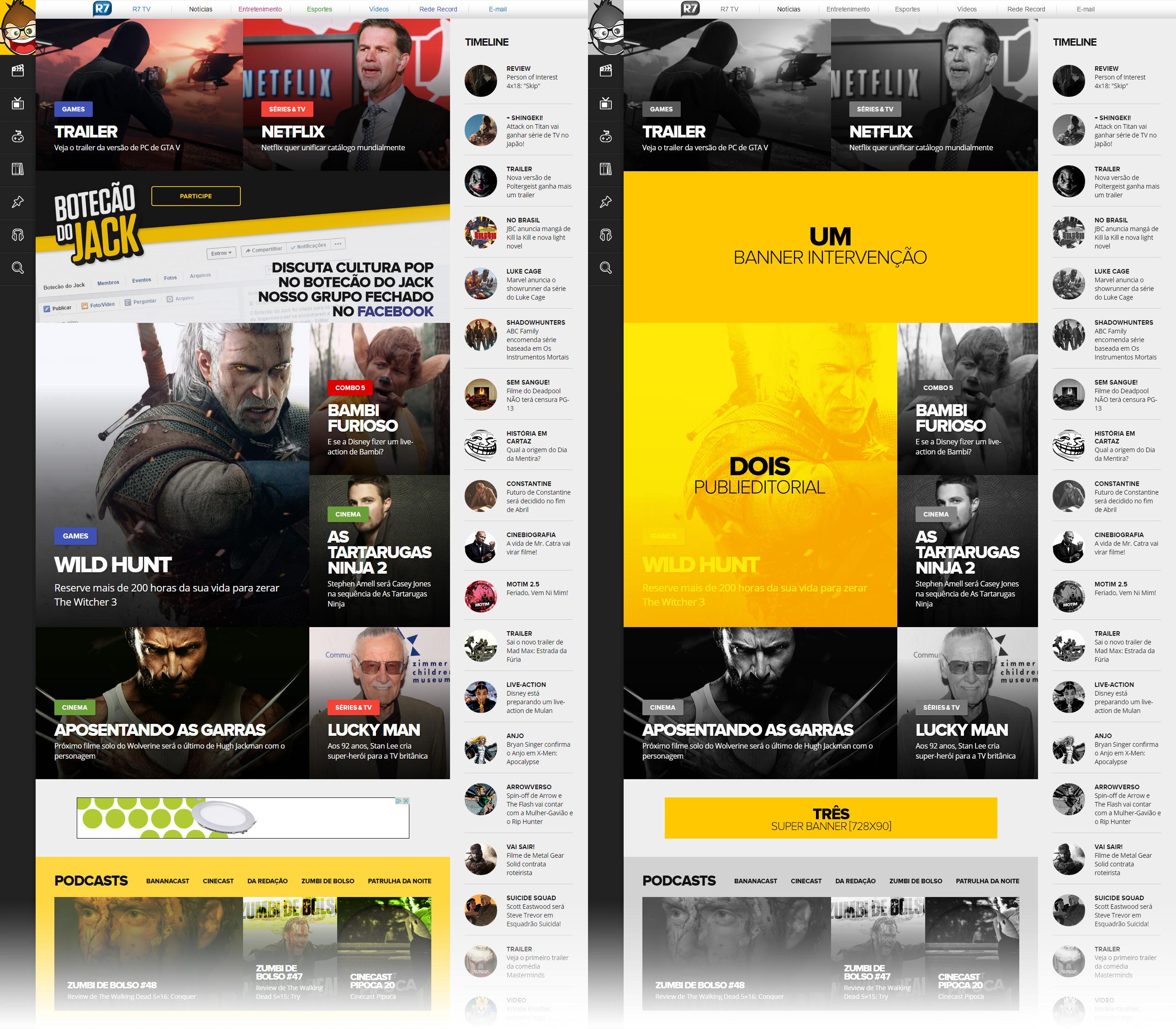 Exemplos 1, 2 e 3 de publicidade