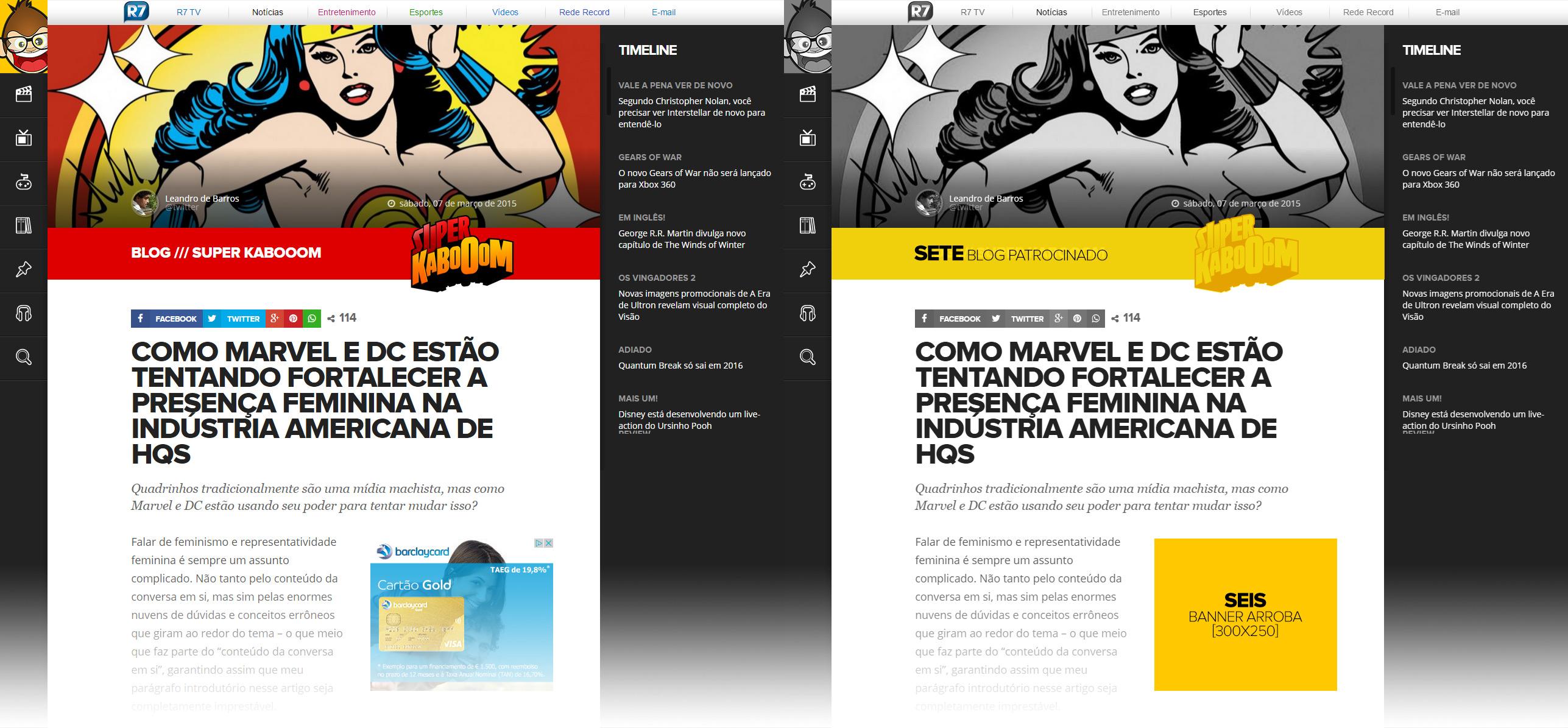 Exemplos 6 e 7 de publicidade