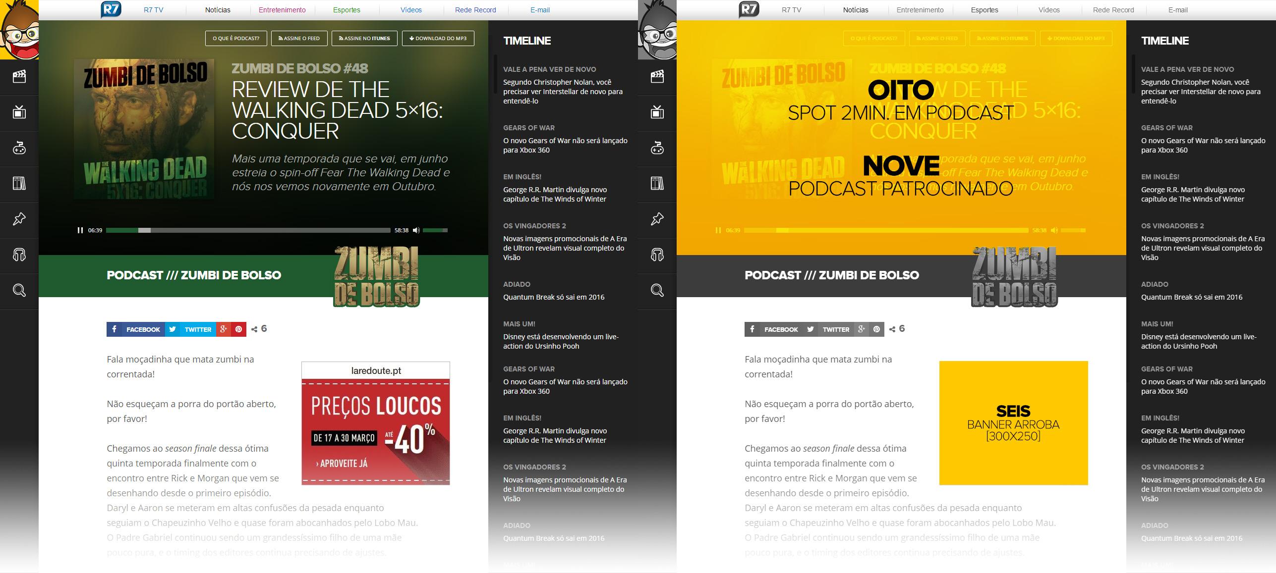 Exemplos 8 e 9 de publicidade
