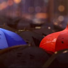 Vamos dar uma espiadinha em The Blue Umbrella, novo curta da Pixar