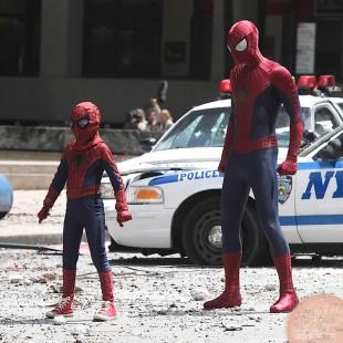 Imagens dos sets de O Espetacular Homem-Aranha 2 mostra a armadura do Rino!