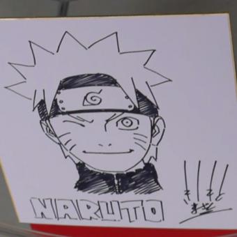 Esse é um vídeo de Masashi Kishimoto desenhando o Naruto