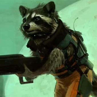 Veja a versão não-finalizada do Rocket Racoon e do Groot em Os Guardiões da Galáxia