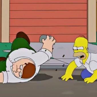 Essas são as primeiras imagens do encontro entre Os Simpsons e Uma Família da Pesada