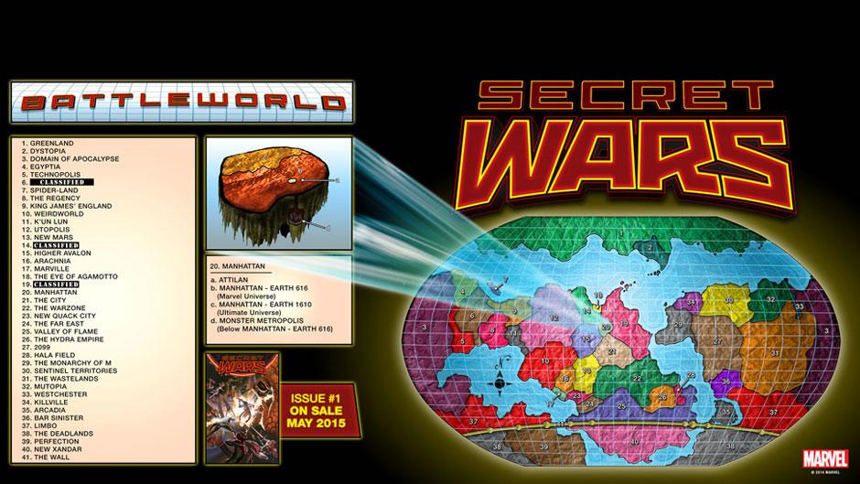 Guerras Secretas Mapas