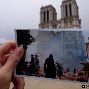 Fotos comparam a cidade de Paris com sua versão digital em Assassin's Creed Unity