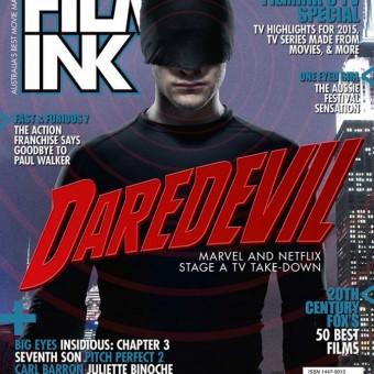 Visual do Demolidor em destaque na capa da FilmInk
