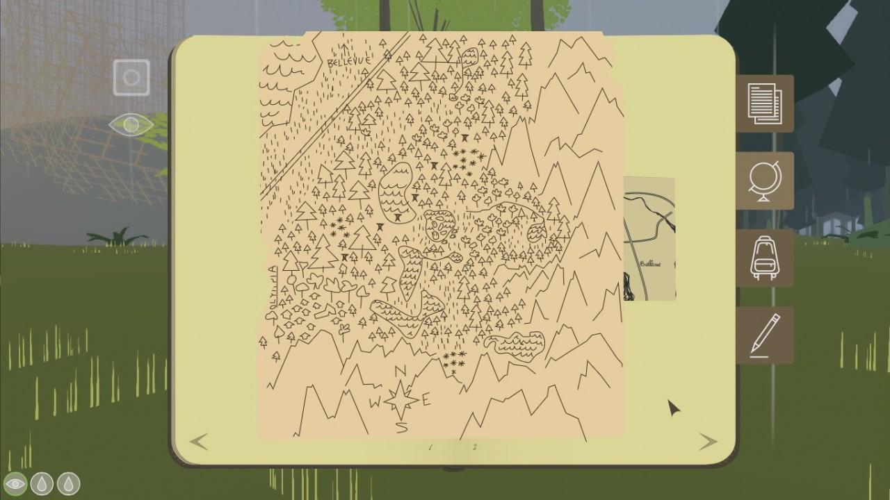 O mapa principal do jogo tem precisamente zero marcações óbvias de onde você está. Mas, depois de um tempo, certos símbolos começam a fazer sentido. Só é uma pena que não tenha uma opção de anotar suas descobertas em cima dele.