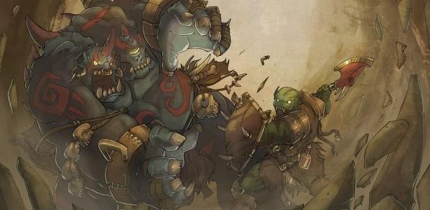 ogre magi vs orc warrior é de autoria do ótimo Jouste. Acesse: http://jouste.deviantart.com/