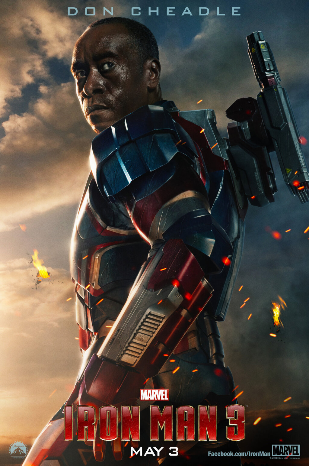 Iron Patriot Homem de Ferro 3
