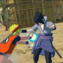 Naruto se veste como o Goku para enfrentar o Sasuke no novo game da série