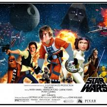 E se a Pixar produzisse Star Trek E Star Wars?
