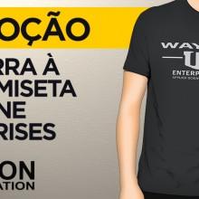 Concorra à uma camiseta Wayne Enterprises da Fiction Corporation