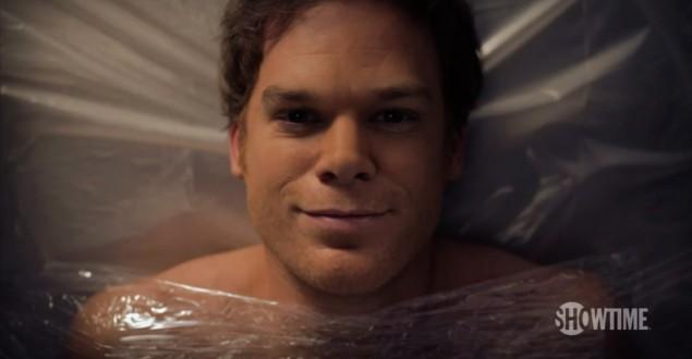 Arte promocional da última temporada de Dexter e que mostra um pouco o que PODERIA ter sido o fim da série