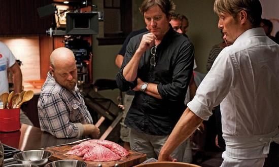 Equipe de filmagem em um das melhores cenas do piloto.