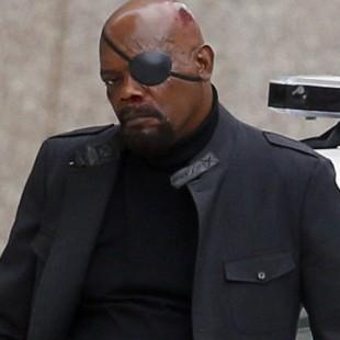Samuel L. Jackson aparece ensanguentado nos sets de Capitão América 2