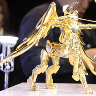 E essa é uma estátua de puro ouro de Os Cavaleiros do Zodíaco