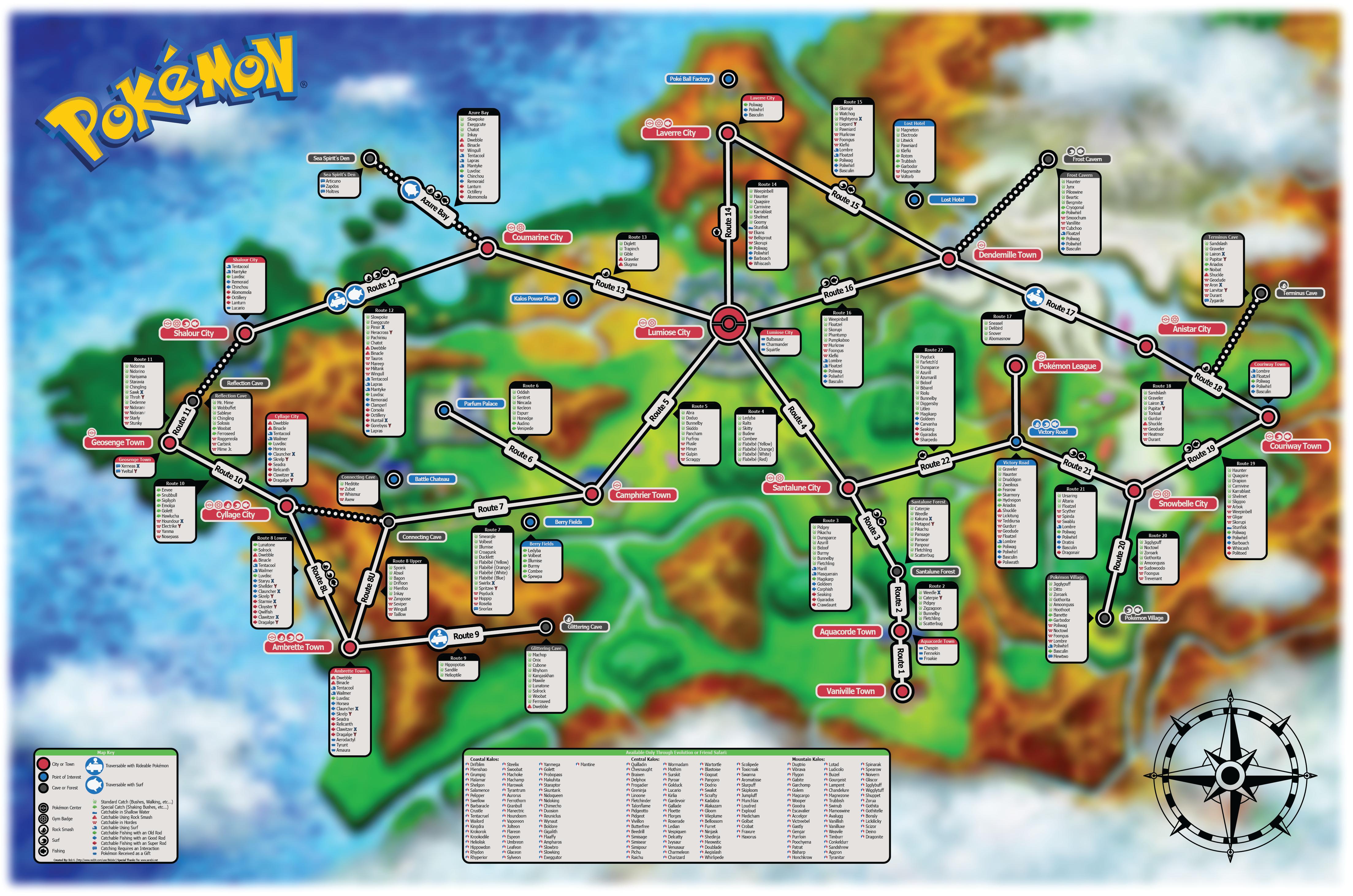 Mapa Pokemon X Y