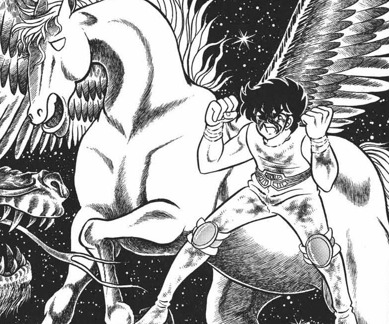 Arte de Kurumada em Os Cavaleiros do Zodíaco