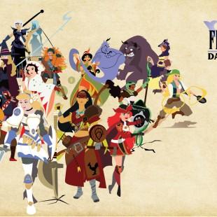 E se as Princesas da Disney fossem desenhadas de acordo com seus jobs no Final Fantasy?