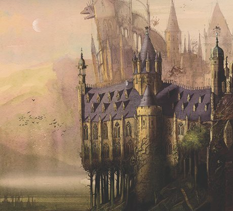 Hogwarts as imagined by Jim Kay