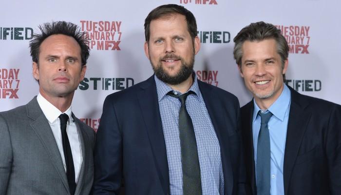 Walton Goggins, Nick Grad e Timothy Olyphant - via Getty Images