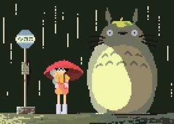 Artista faz desenhos em 8-bits para homenagear o Studio Ghibli e Hayao Miyazaki
