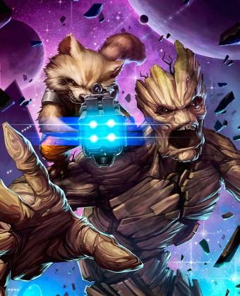 Rocket e Groot