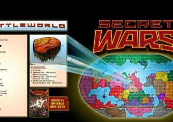 Marvel divulga mapa da saga Guerras Secretas