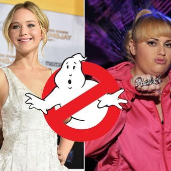 Versão feminina de Os Caça-Fantasmas pode ter Jennifer Lawrence e Rebel Wilson