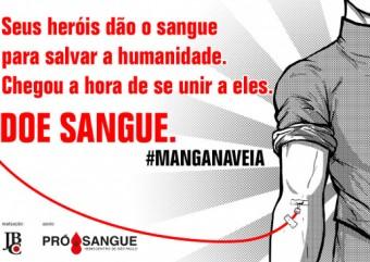 JBC inicia campanha de doação de sangue chamada Mangá na Veia