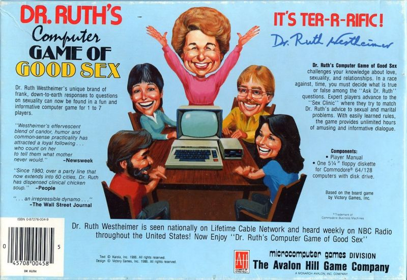 dr ruth's computer game of good sex